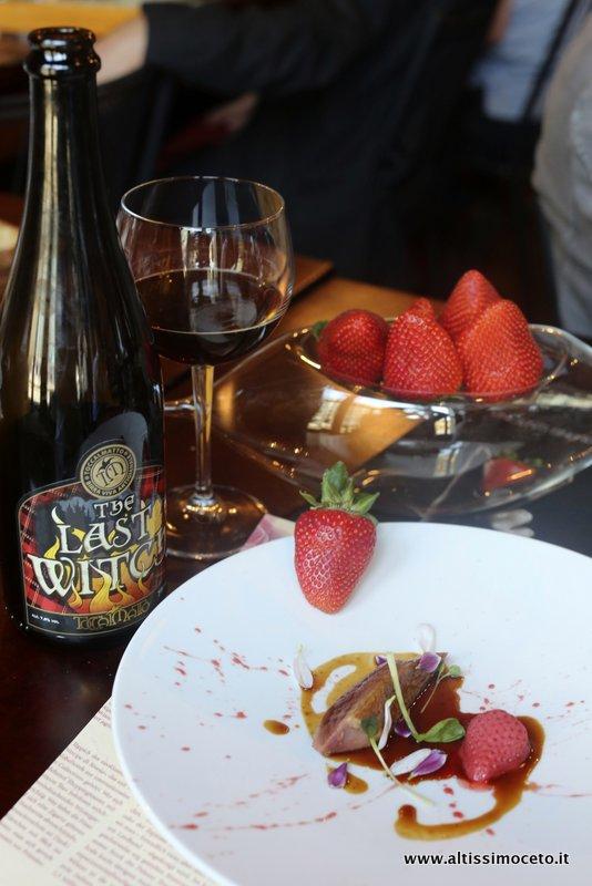 #epicbeerpairings scottish ale, piccione, fragole