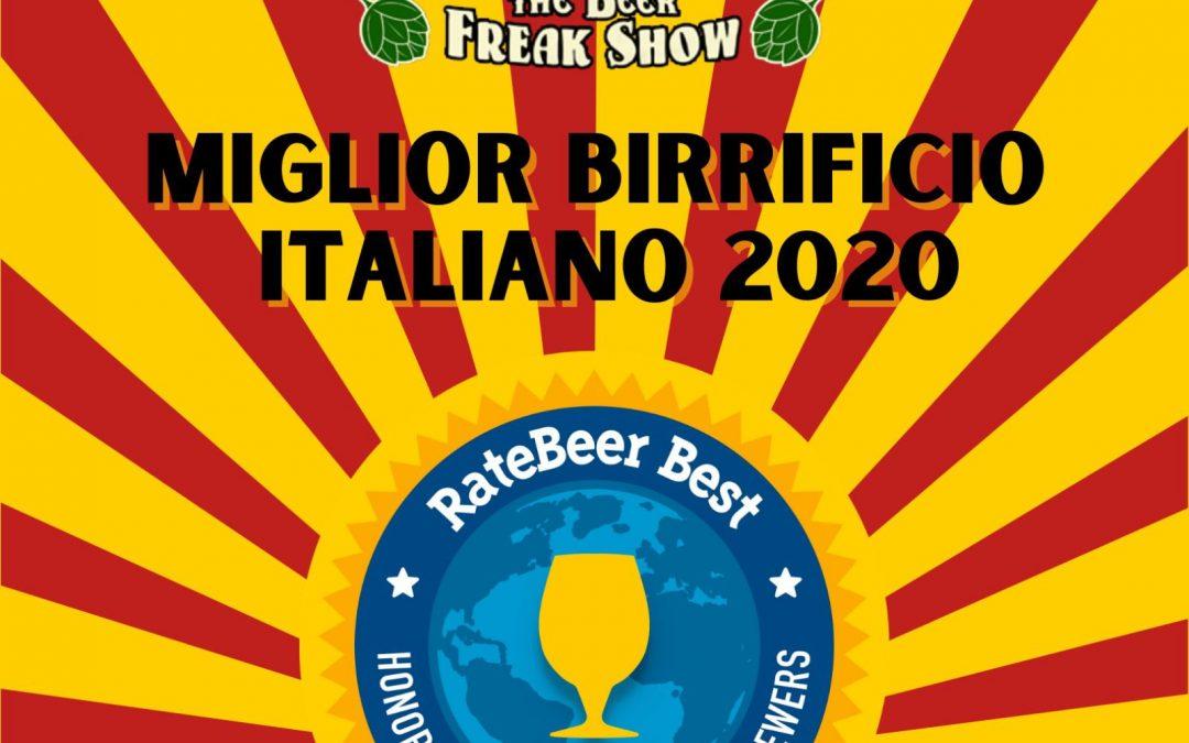 MIGLIOR BIRRIFICIO ITALIANO 2020